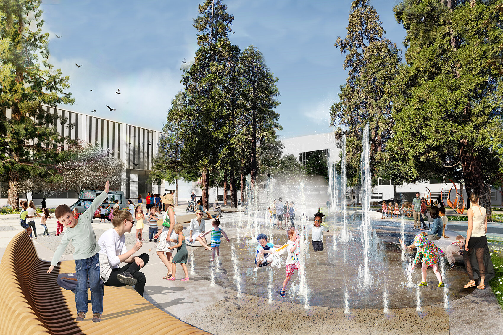 Town Square splash pad
