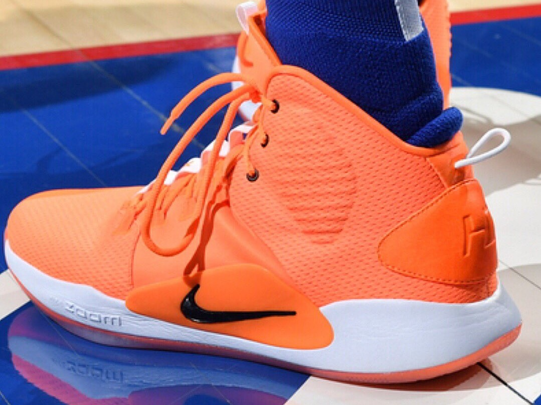 Ben Simmons at it again with the bright orange Nike Hyperdunk X - Philadelphia 76ers vs. Boston Celtics | March 20, 201913 Points7 Assists8 Rebounds3 Steals5-9 Shooting