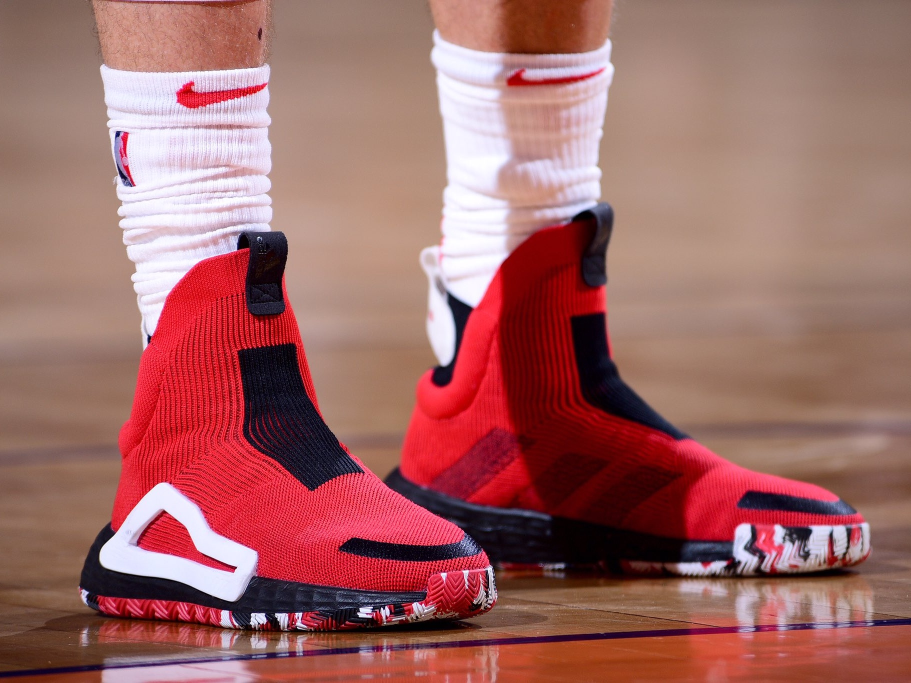 Zach Lavine with the look in the Adidas N3XT L3V3L PE - Chicago Bulls vs. Phoenix Suns | March 18, 201917 Points7 Assists8 Rebounds1 Steal5-10 Shooting