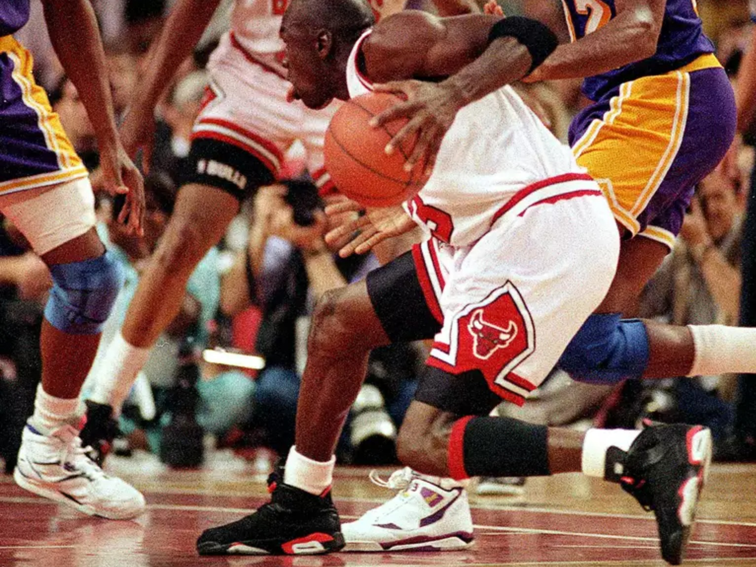 See the kicks worn in the most legendary performances in basketball history -