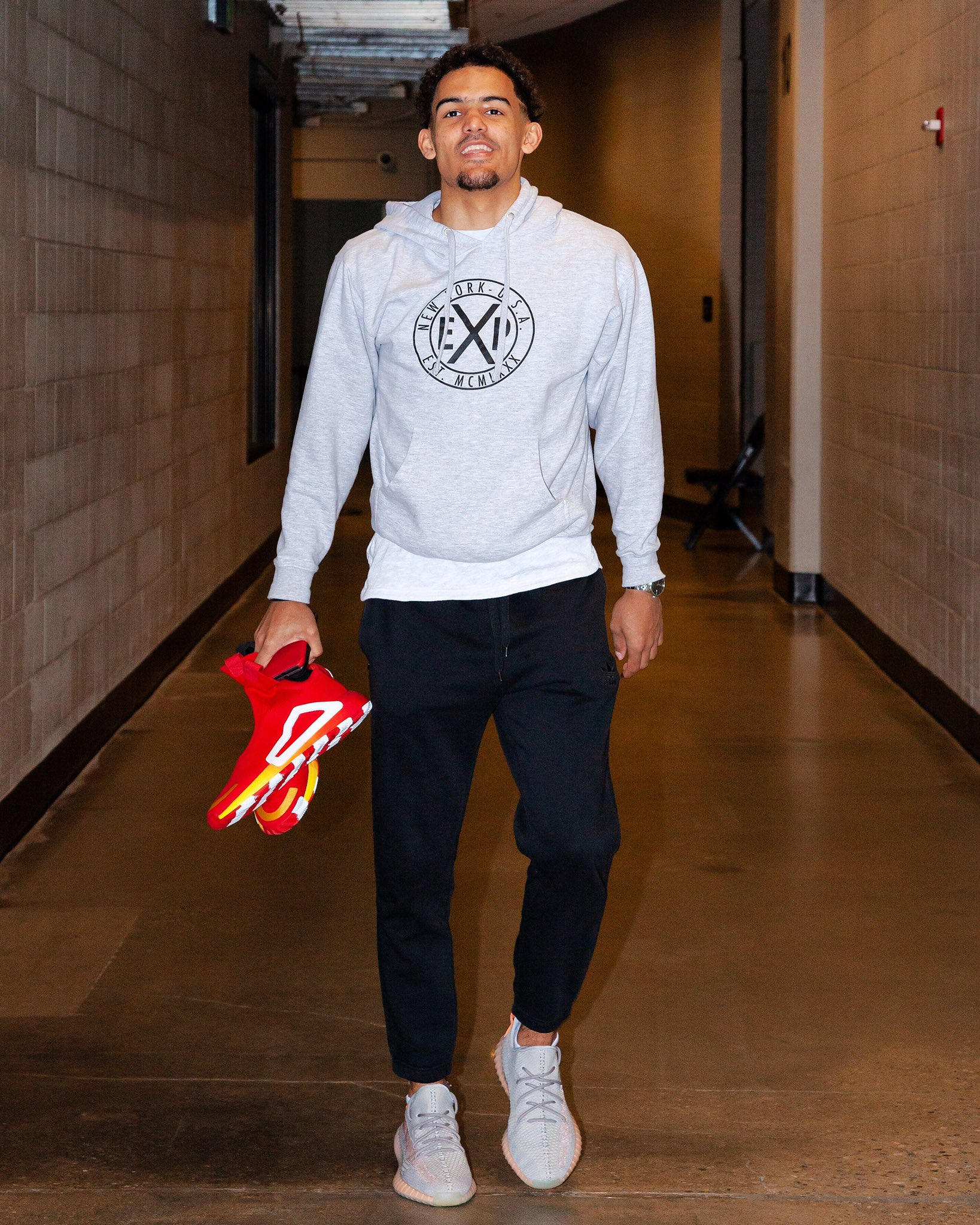Trae Young bringing the Adidas N3XT L3V3L - Atlanta Hawks vs. Portland Trail Blazers | March 29, 201926 Points7 Assists9 Rebounds1 Steals10-25 Shooting