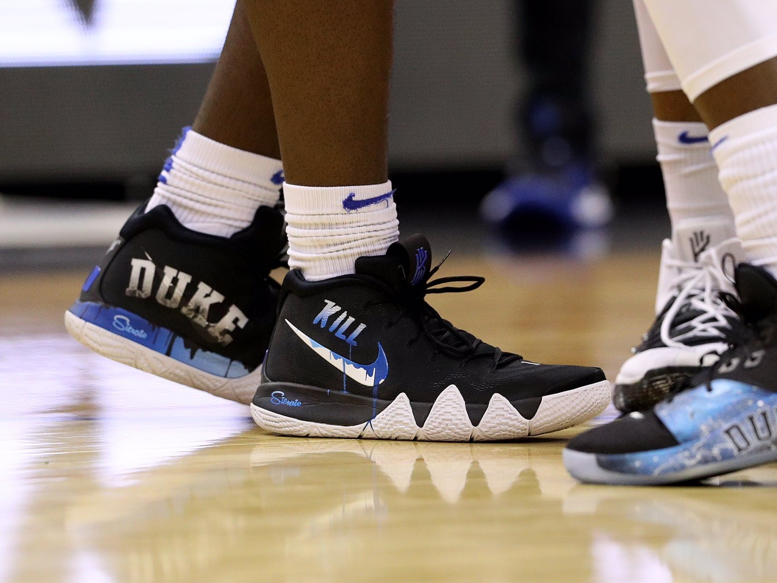 "Zion Williamson with the ""Kill"" Nike Kyrie 4 - Duke Blue Devils vs. Virginia Tech 