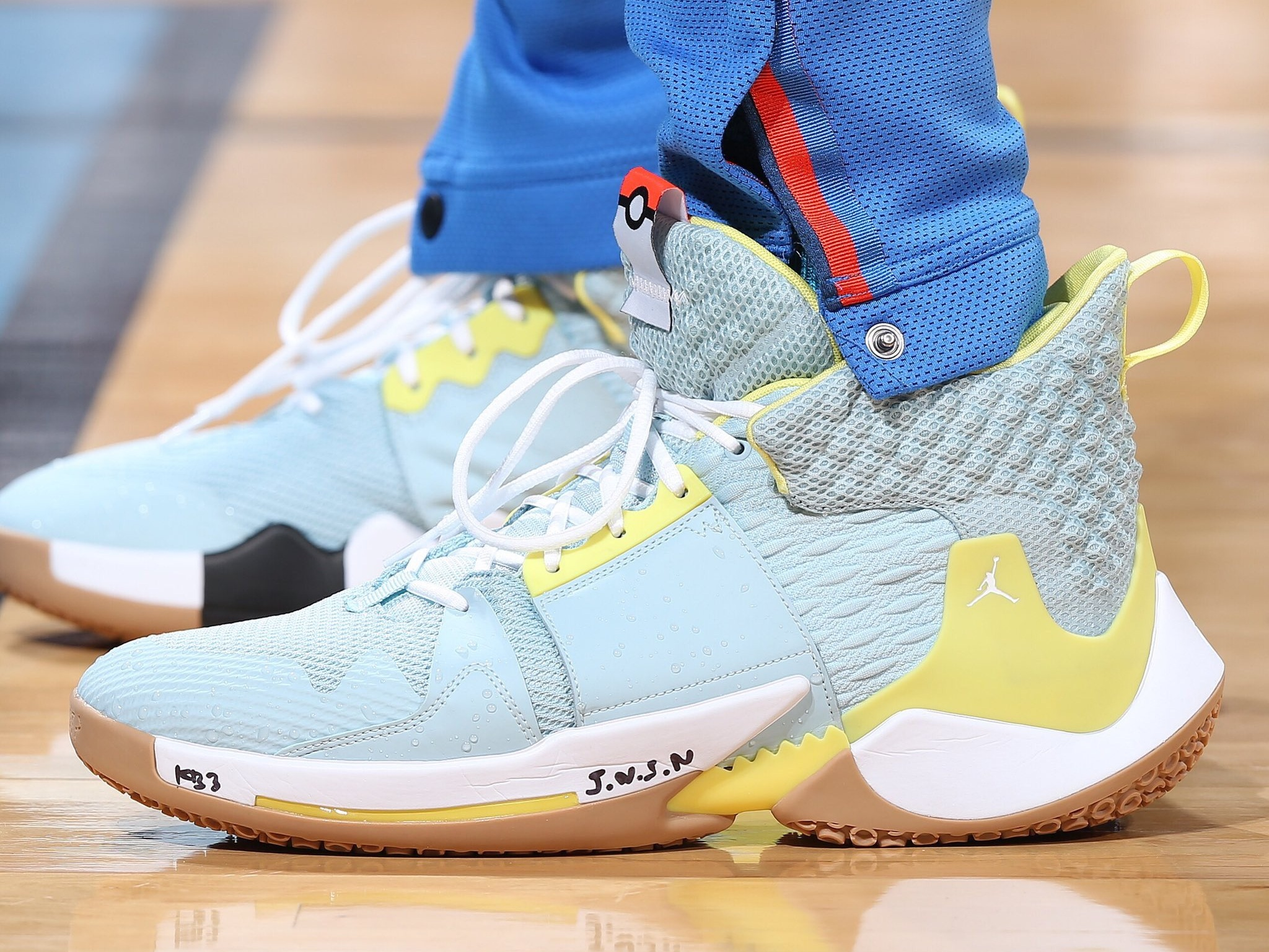 Russell Westbrook wearing the Squirtle-inspired Jordan Why Not Zer0.2 - Oklahoma City Thunder vs. Denver Nuggets | March 29, 201927 Points9 Assists9 Rebounds2 Steals11-22 Shooting