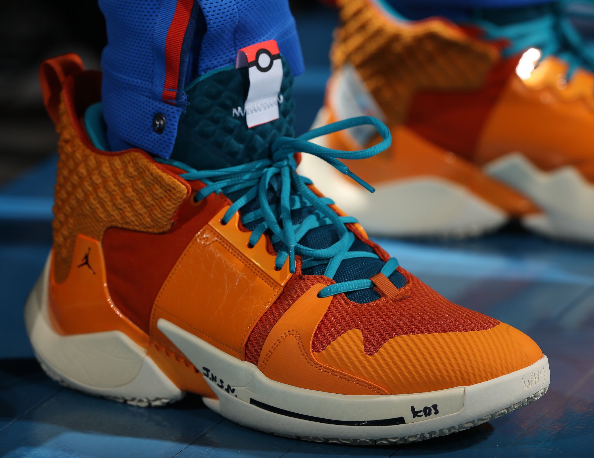 Russell Westbrook drops a triple double in the Pokemon Charizard Jordan Why Not? Zer0.2 - Oklahoma City Thunder vs. Dallas Mavericks | March 31, 201925 Points11 Assists11 Rebounds2 Steals9-19 Shooting