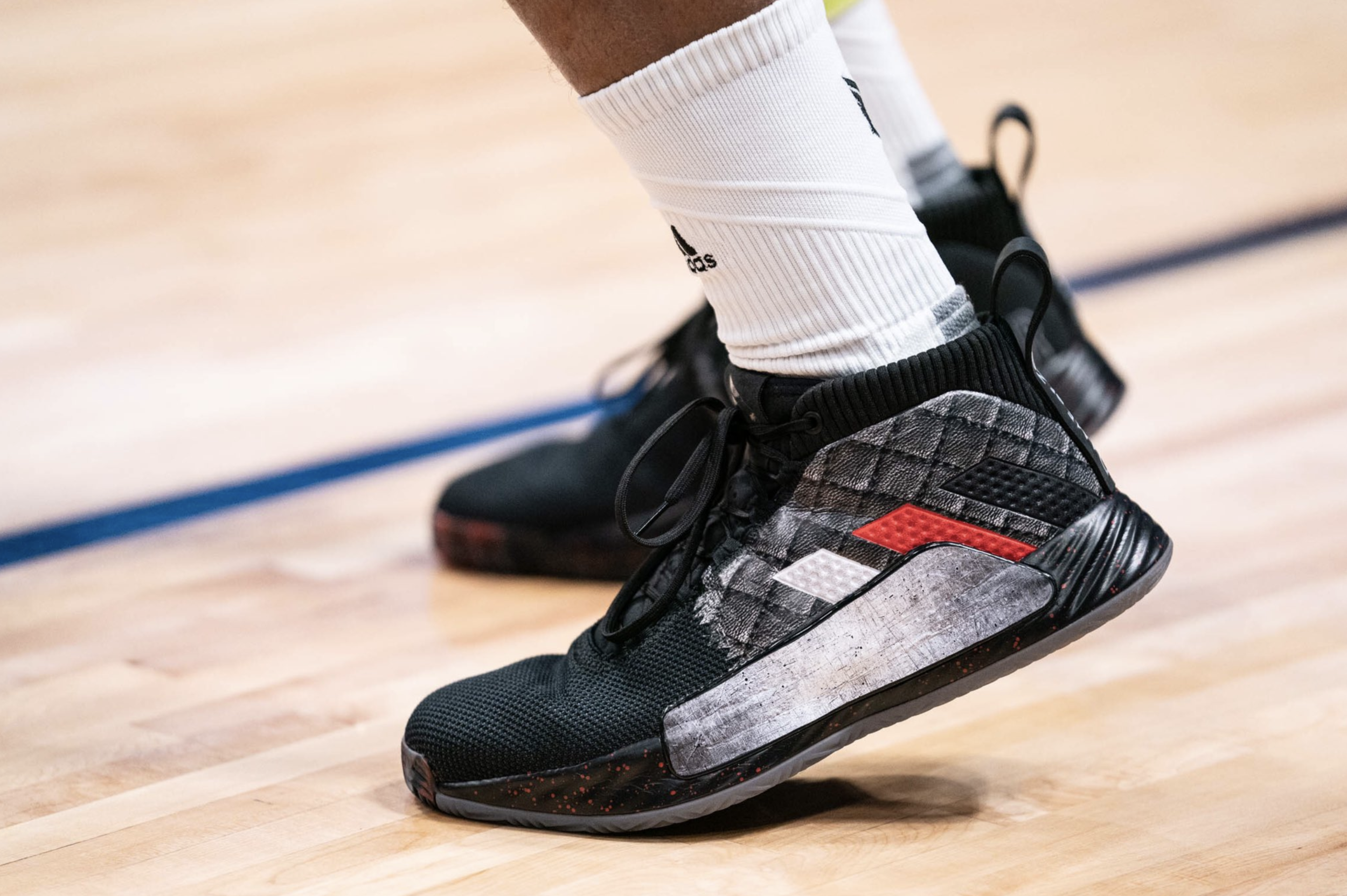 "Damian Lillard in the ""Game of Zones"" Adidas Dame 5 - Portland Trail Blazers vs. Denver Nuggets 