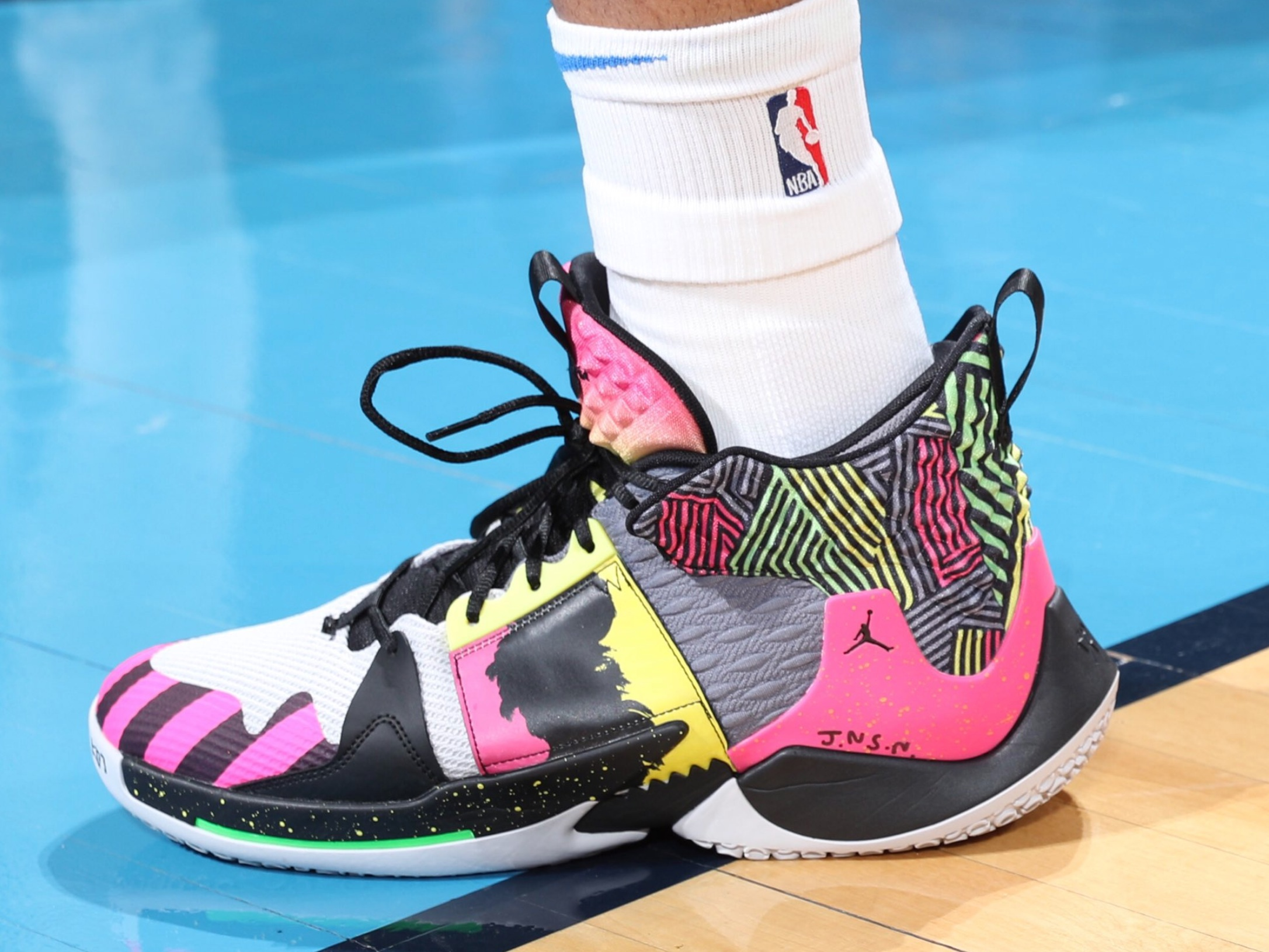 Russell Westbrook again with the custom Jordan Why Not? Zer0.2 - Oklahoma City Thunder vs. Detroit Pistons | April 5, 201919 Points15 Assists8 Rebounds1 Steal6-18 Shooting