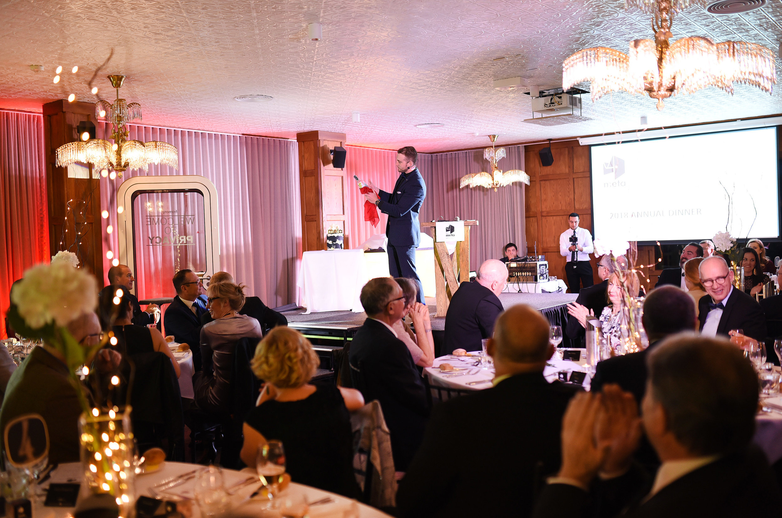 Perfect After Dinner Entertainment - Whilst your guests relax after their dinner, Josh entertains the whole audience with Magic and Mind Reading. This will leave your audience with an experience that is sophisticated, amazing and memorable.