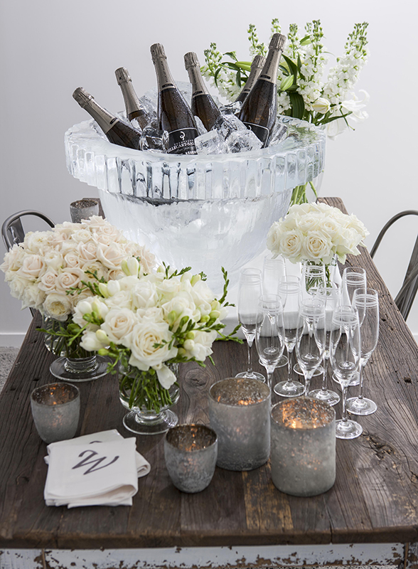 This gorgeous bucket was sourced from Ice Creations in New Zealand. I just love the goblet shape.