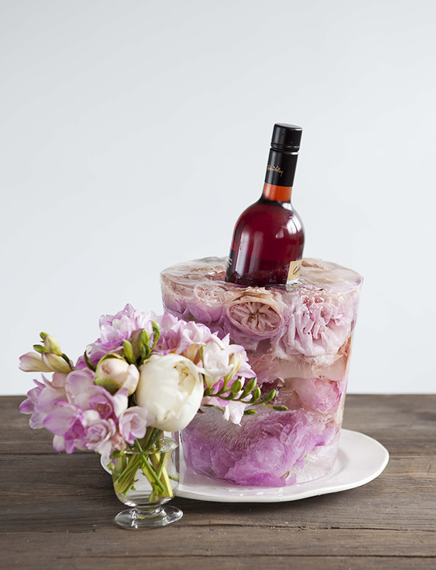 Here's another DIY bucket I created myself for a shoot, this time with roses.