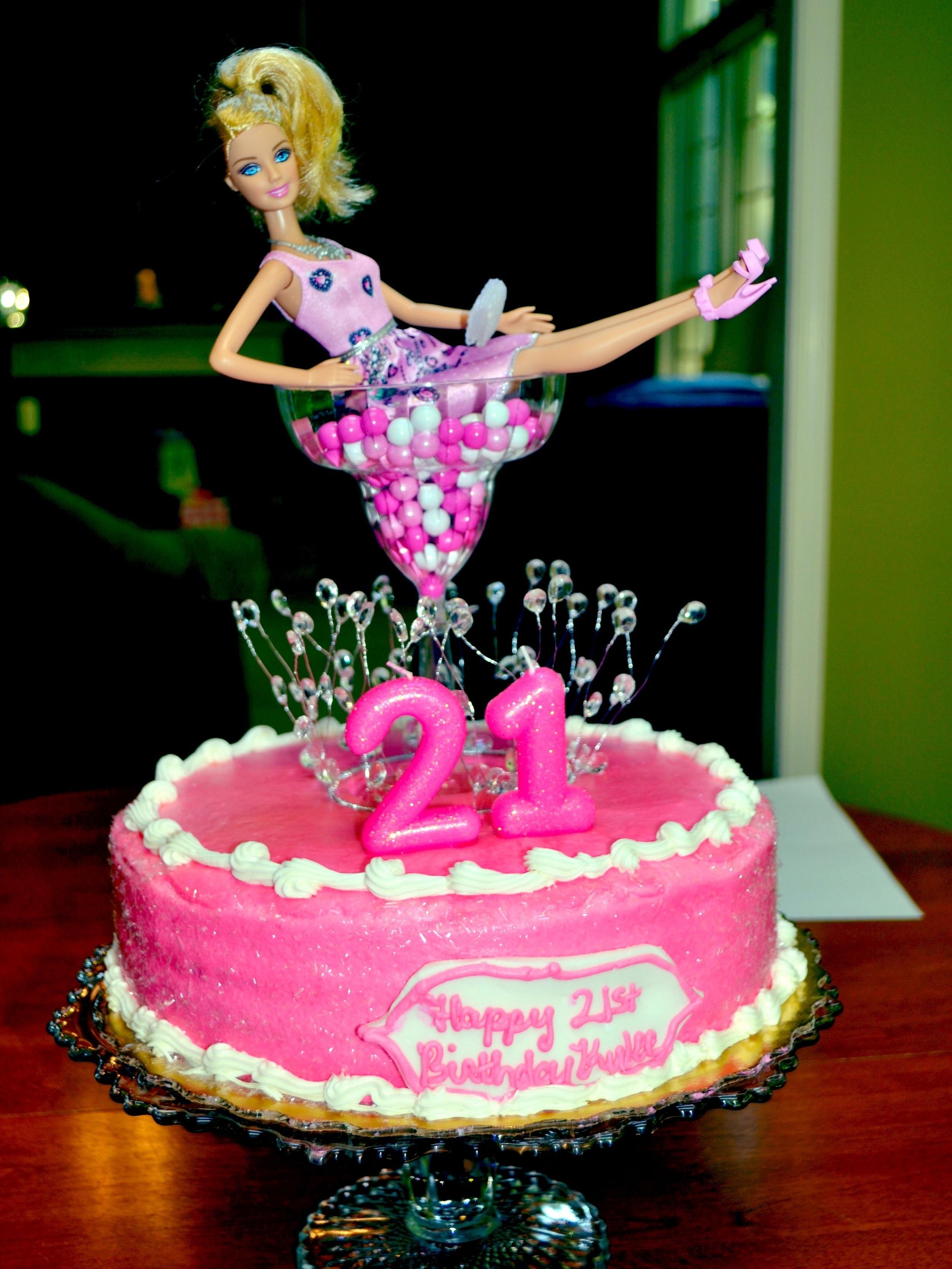 diy 21st birthday cake -