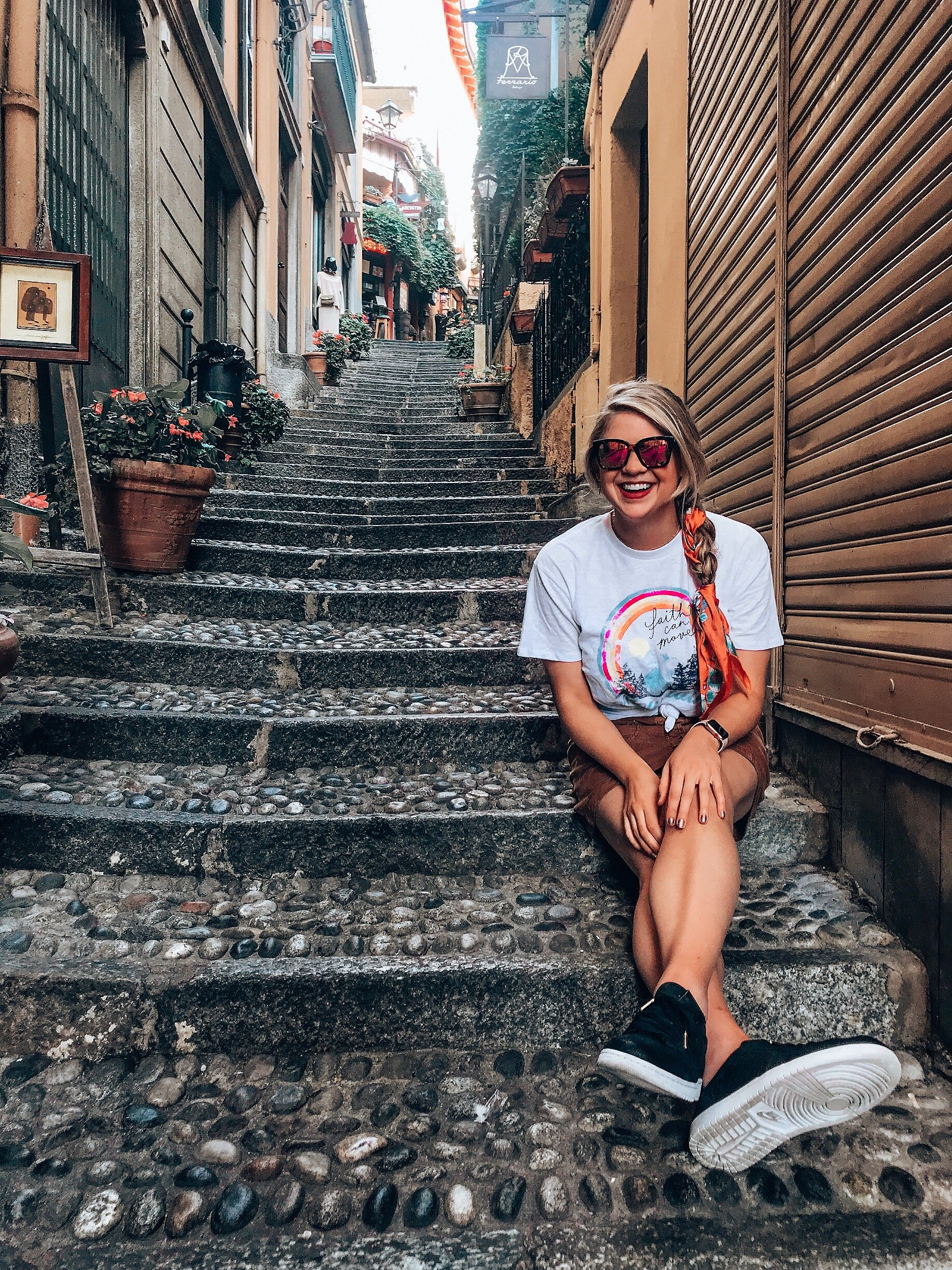 Wander the Streets - Bellagio is the cutest little town located right off Lake Como. The main street may be bustling but it's the tiny streets, stairways and nooks that scream ITALY. Explore the streets that have plenty places to eat, drink and shop!