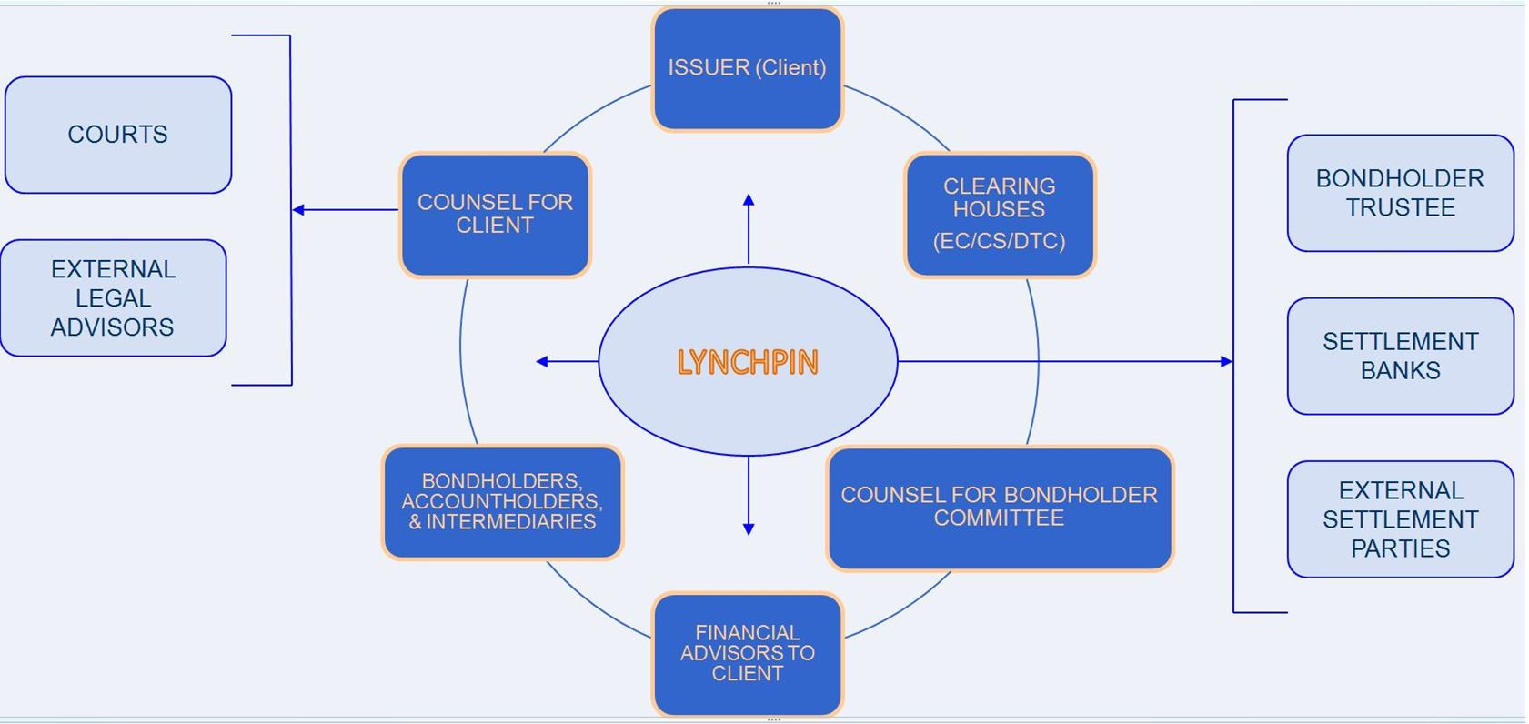 Lynchpin's role in the Corporate Action Participants