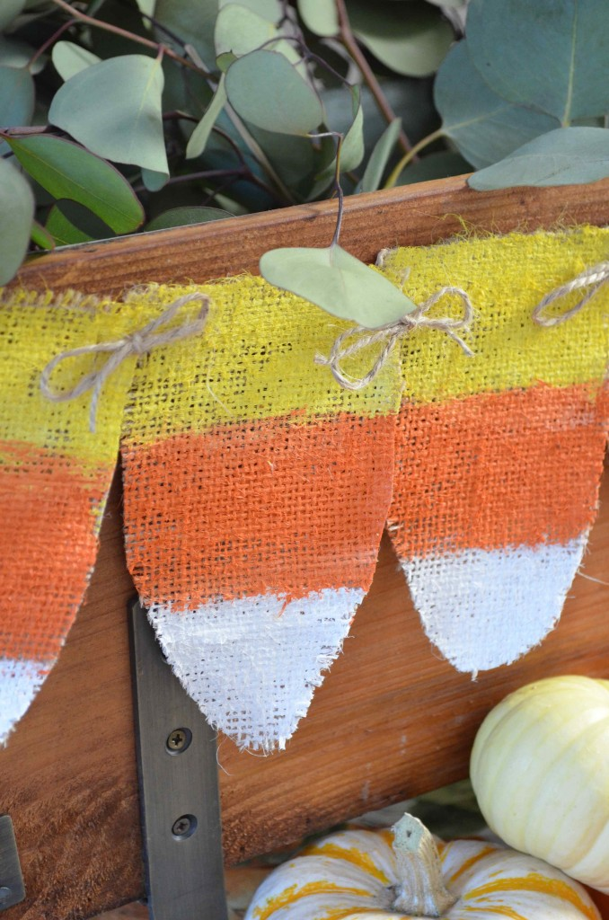 candy corn burlap banner maria provenzano from scratch