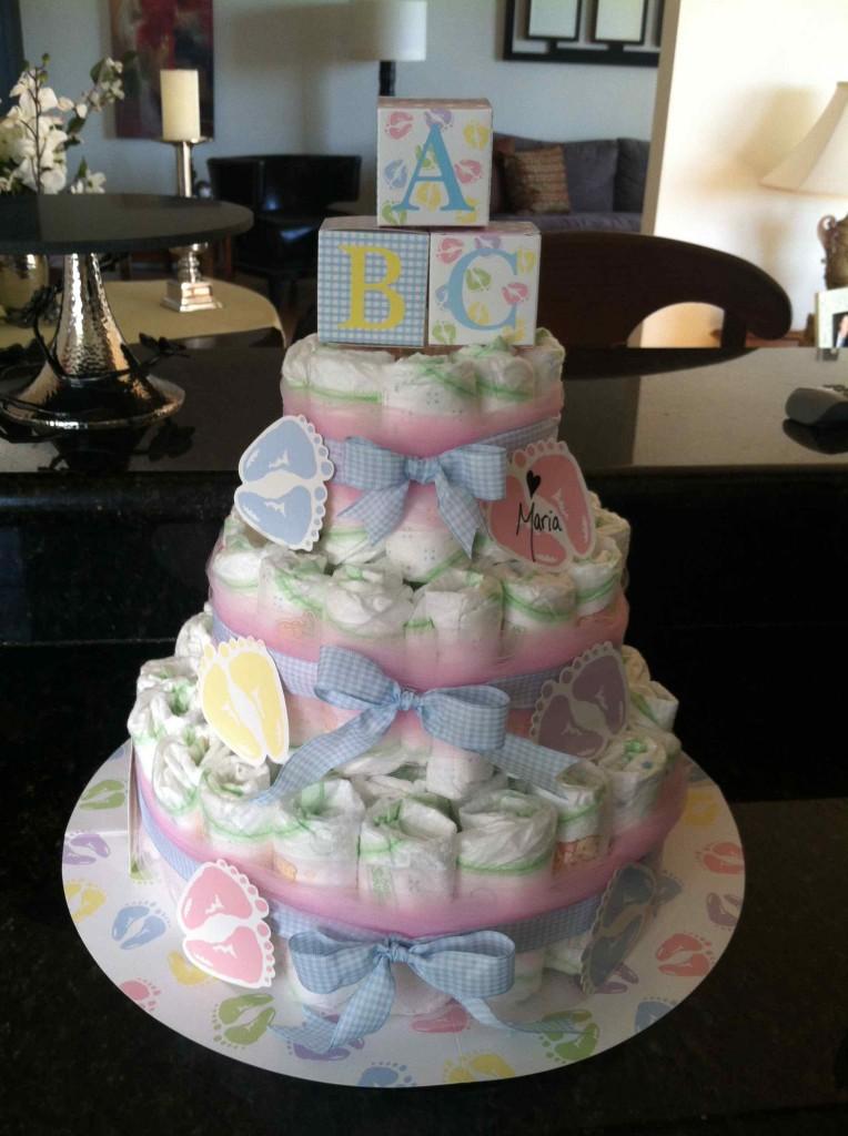 neutral diaper cake