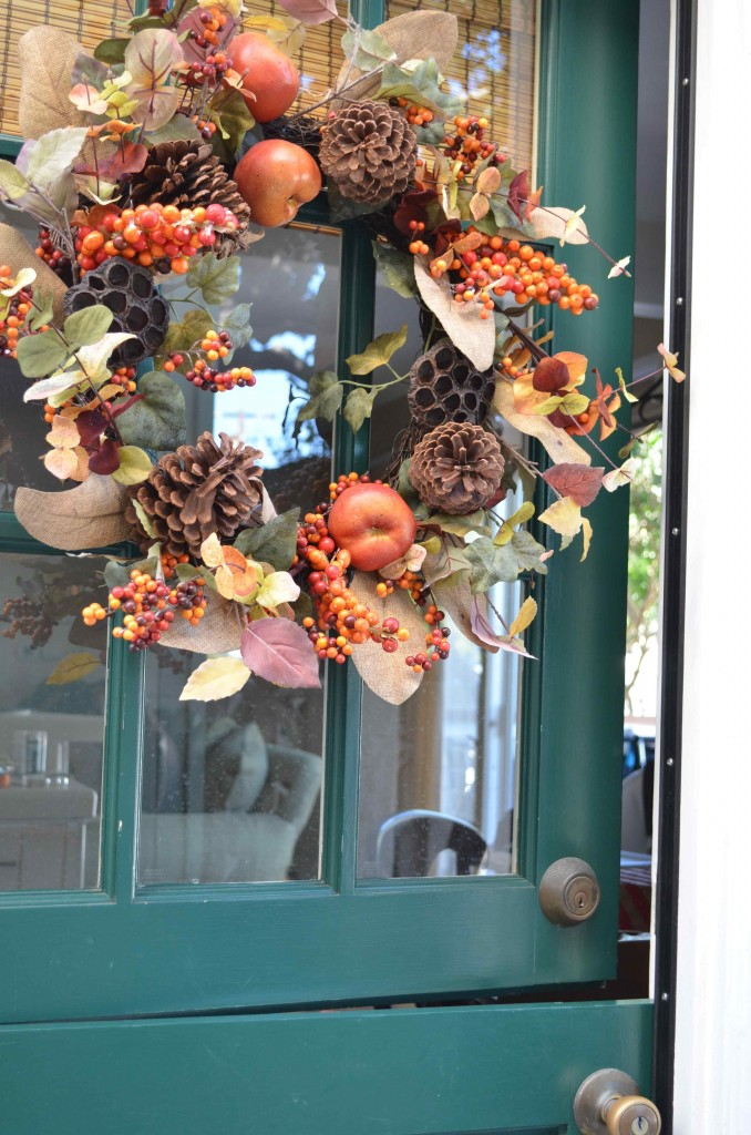 My Fall wreath from Michael's