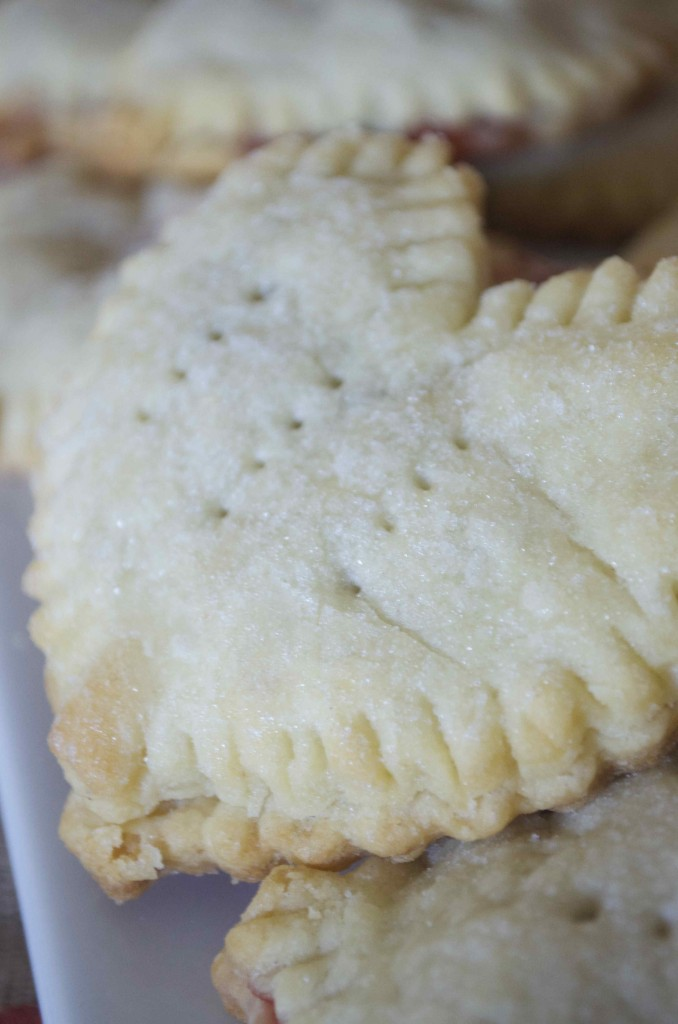 roasted strawberry heart hand pies