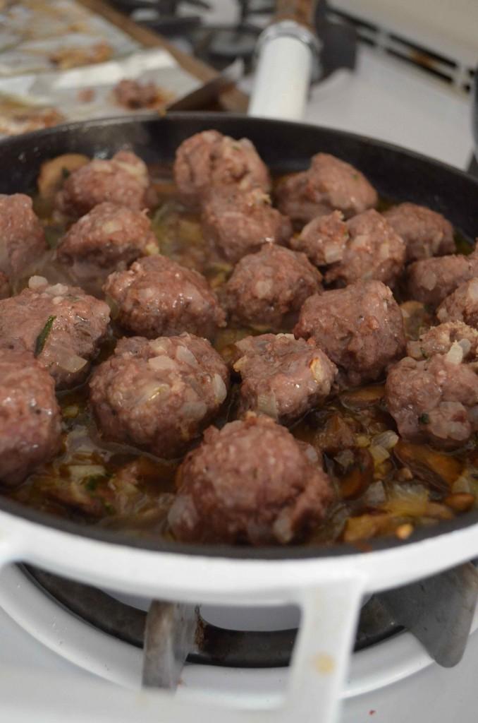 mushroom meatballs