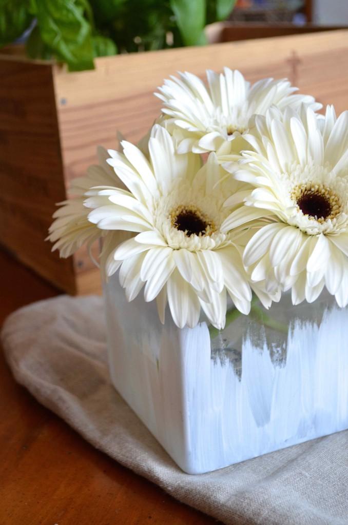 brushed vase