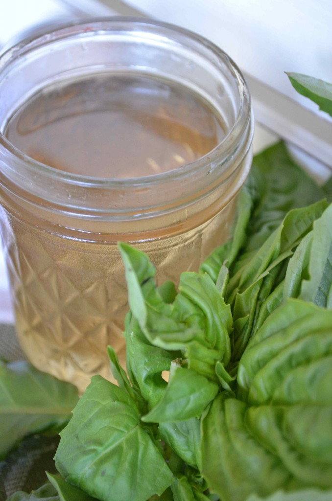 basil simple syrup