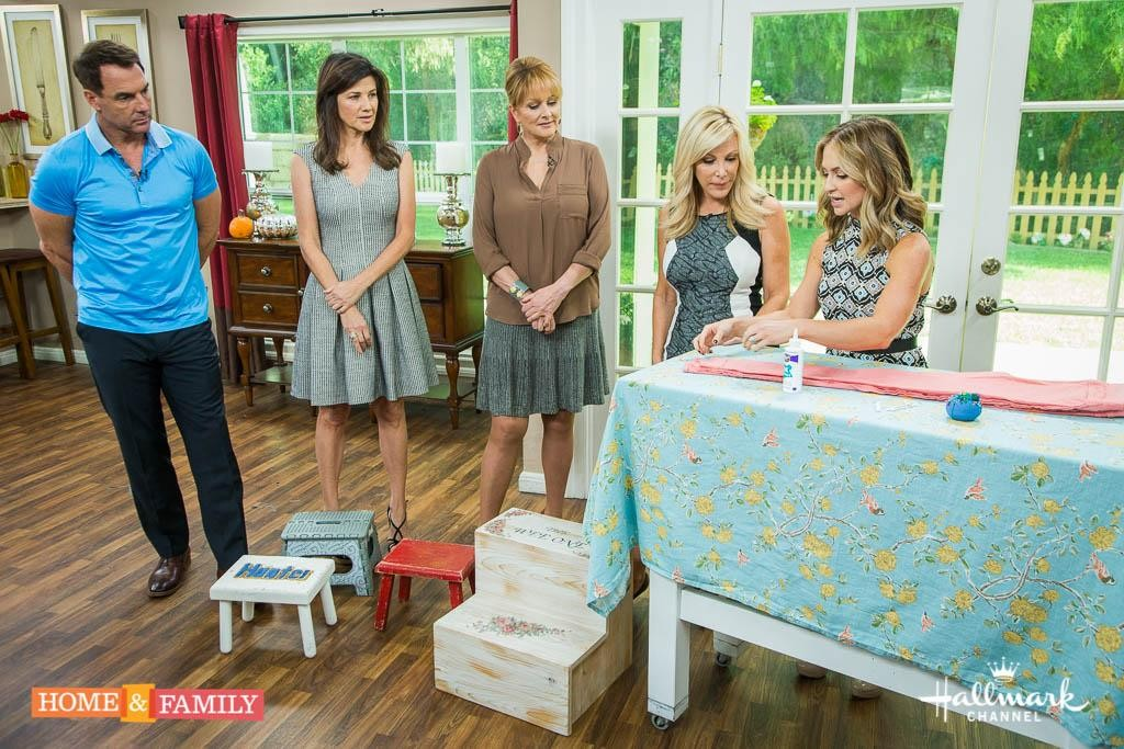 From Scratch with Maria Provenzano Demos DIY alterations in her Neat To Be Petite Segment with Kym Douglas on The Hallmark Channel's Home and Family Show.