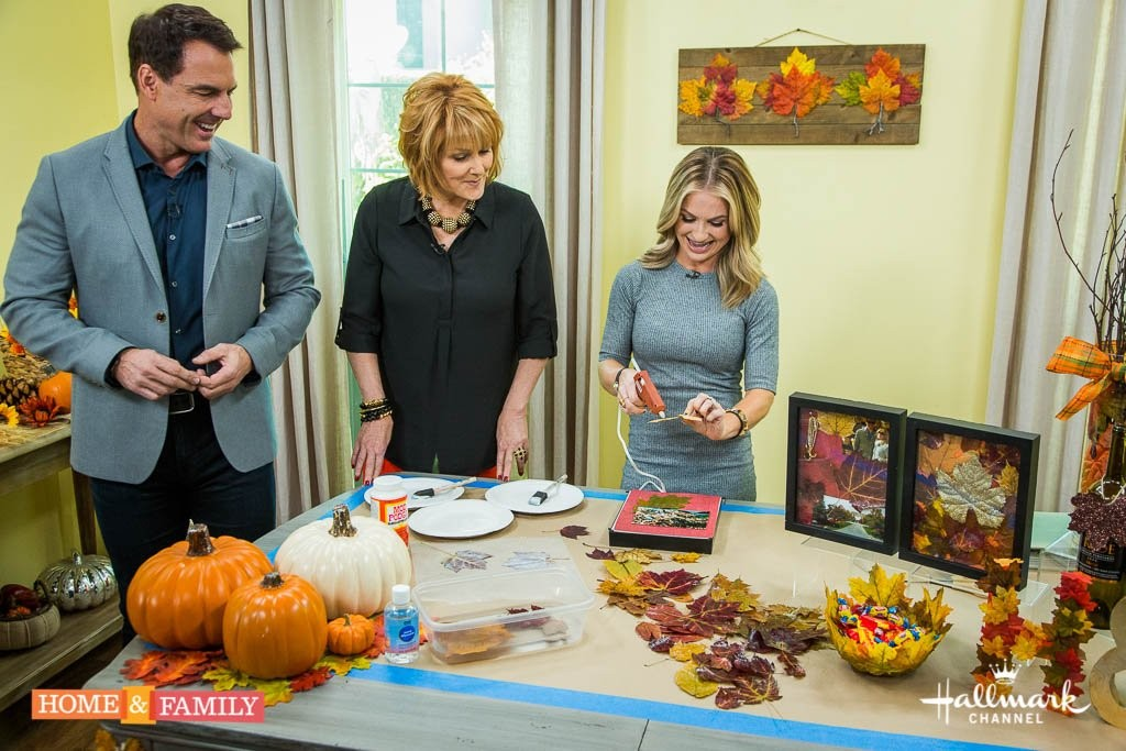 Fall Crafting on Hallmark's Home and Family Show Maria Provenzano