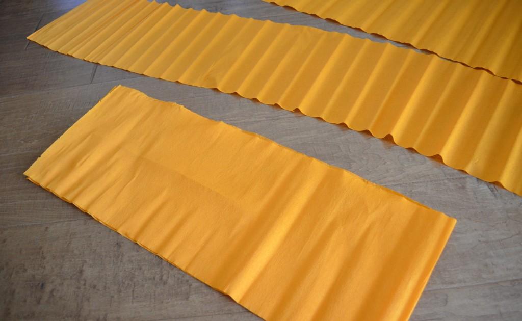 Orange Crepe Paper Halloween Fringed Backdrop
