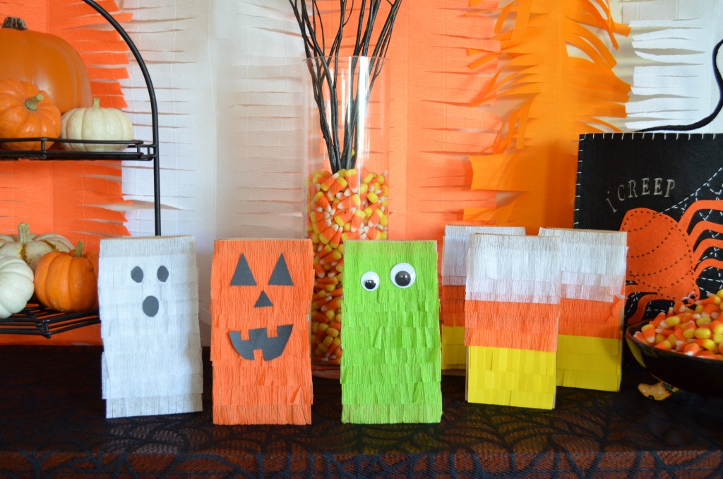 DIY Fringed Halloween Treat Bags From Scratch With Maria