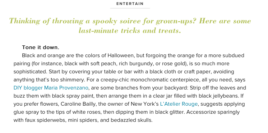 From Scratch With Maria Provenzano Halloween Craft Featured on Giada De Laurentiis Giada Weekly