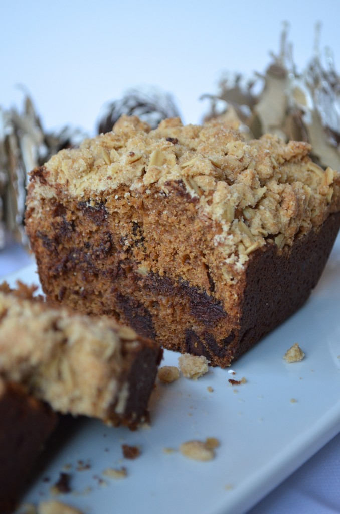 Gingerbread Loaf With Dark Chocolate and Spiced Crumble