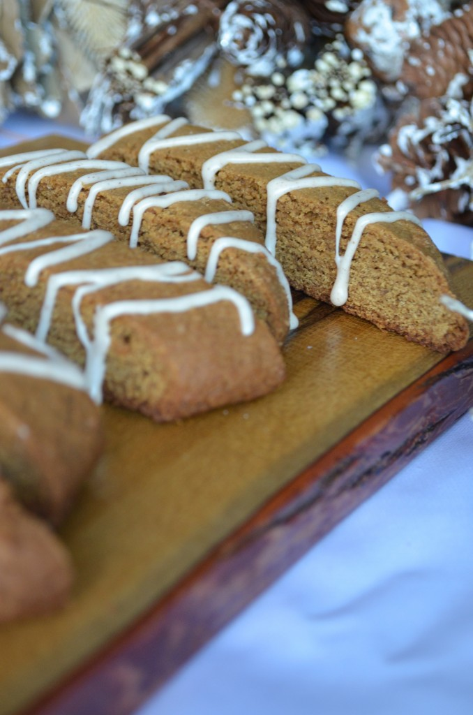 Gingerbread Biscotti With Maple Glaze