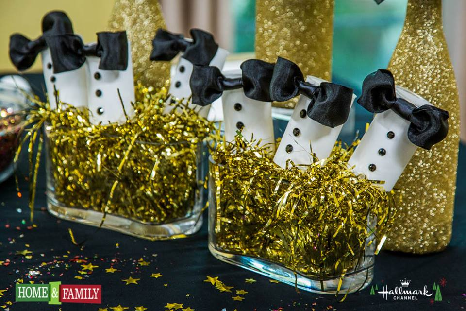 DIY Tuxedo Party Poppers on The Hallmark Channel's Home and Family Show
