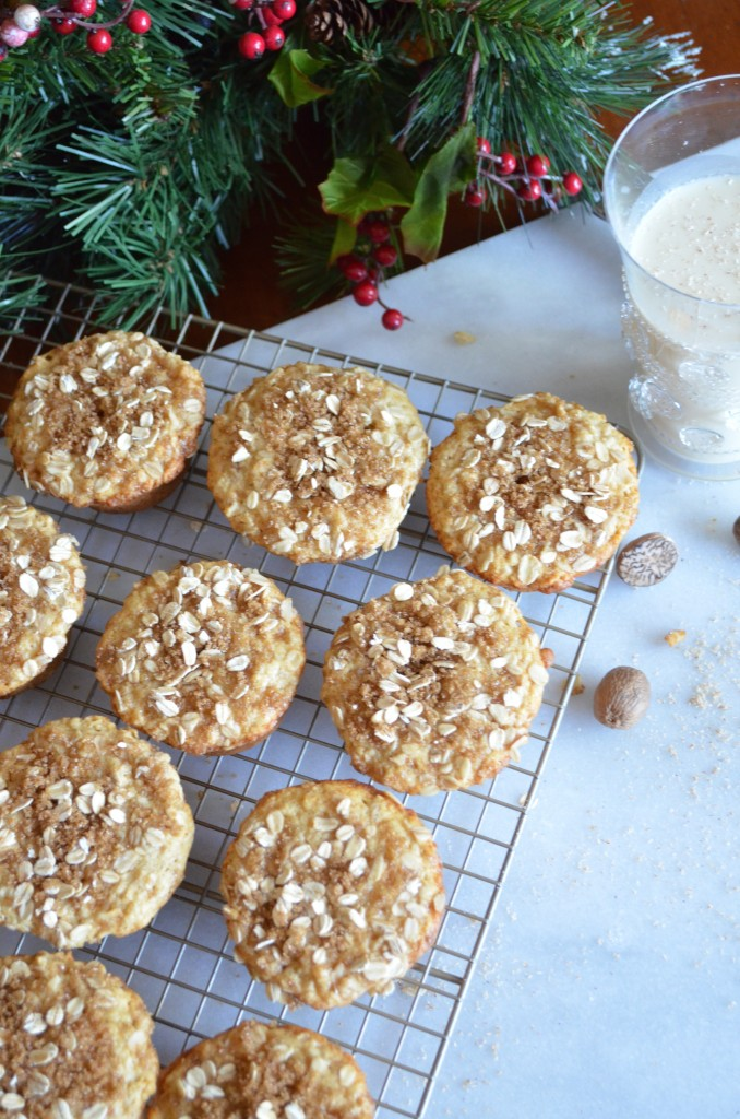 Eggnog Muffins for the holiday season. From Scratch With Maria Provenzano Click for recipe