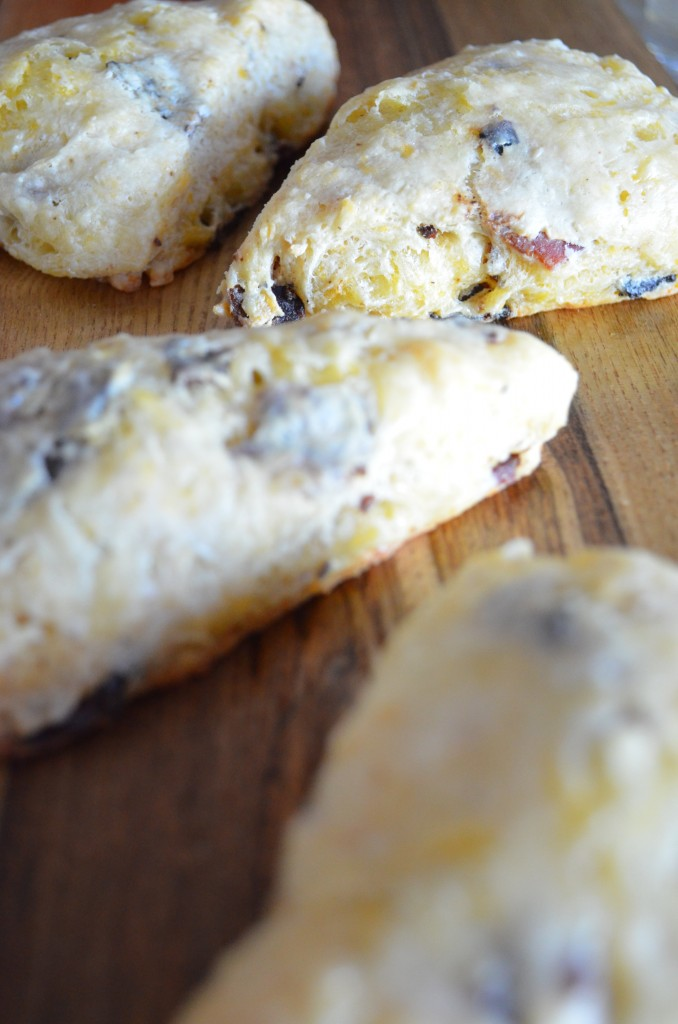 Cheddar, Bacon, and Chive Scones