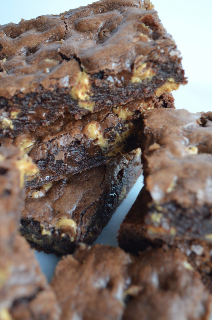 Double Chocolate and Peanut Butter Brownies Click for Recipe
