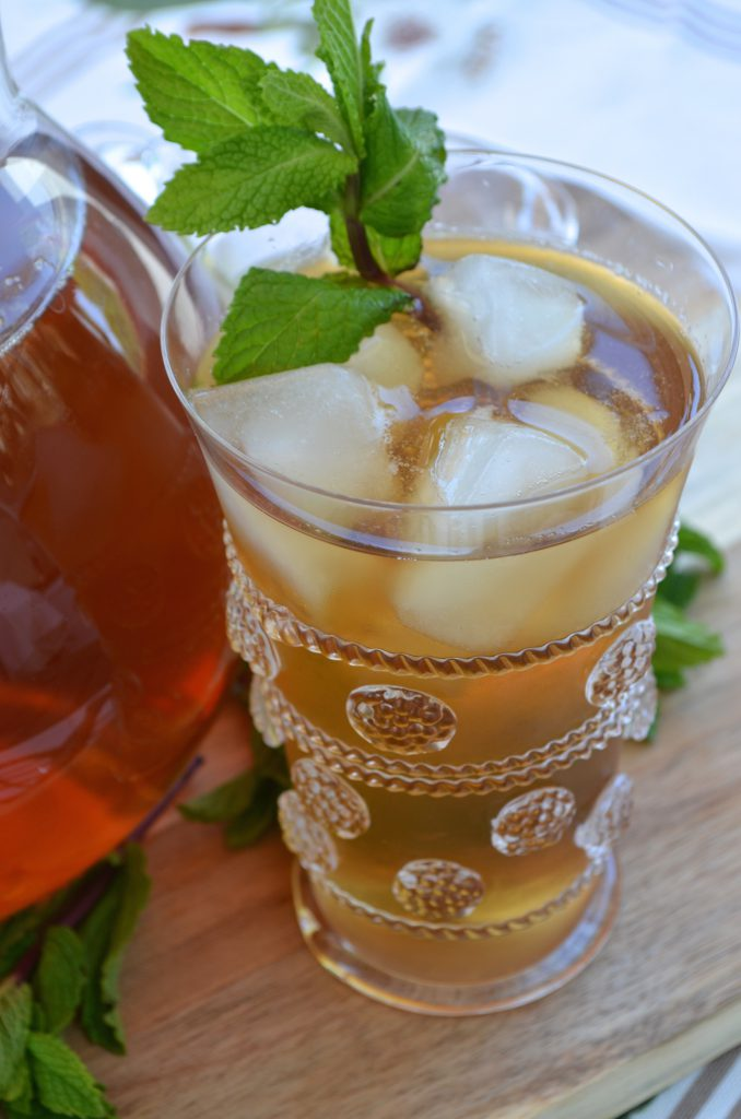 Mint Iced Tea with Homemade Mint Simple Syrup