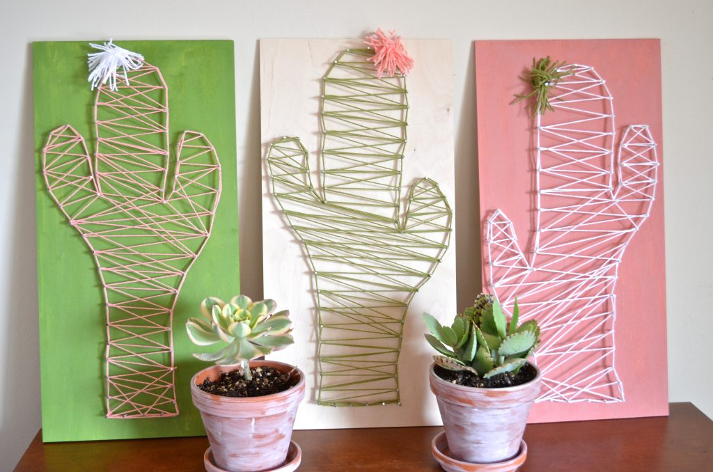 DIY Cactus String Art Craft