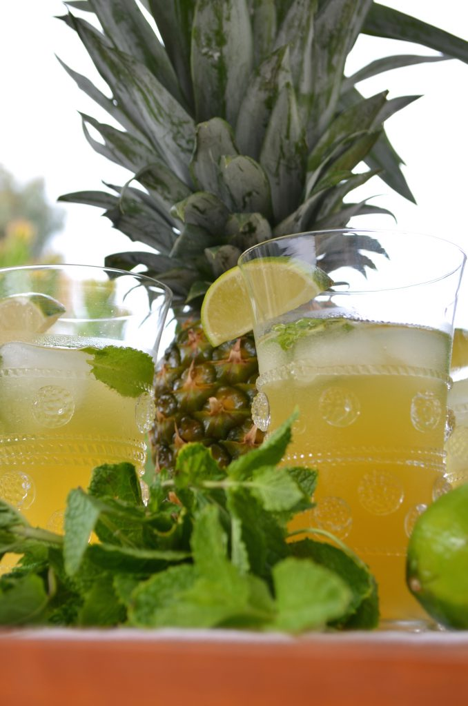 Pineapple, Lime, and Mint Sparkler