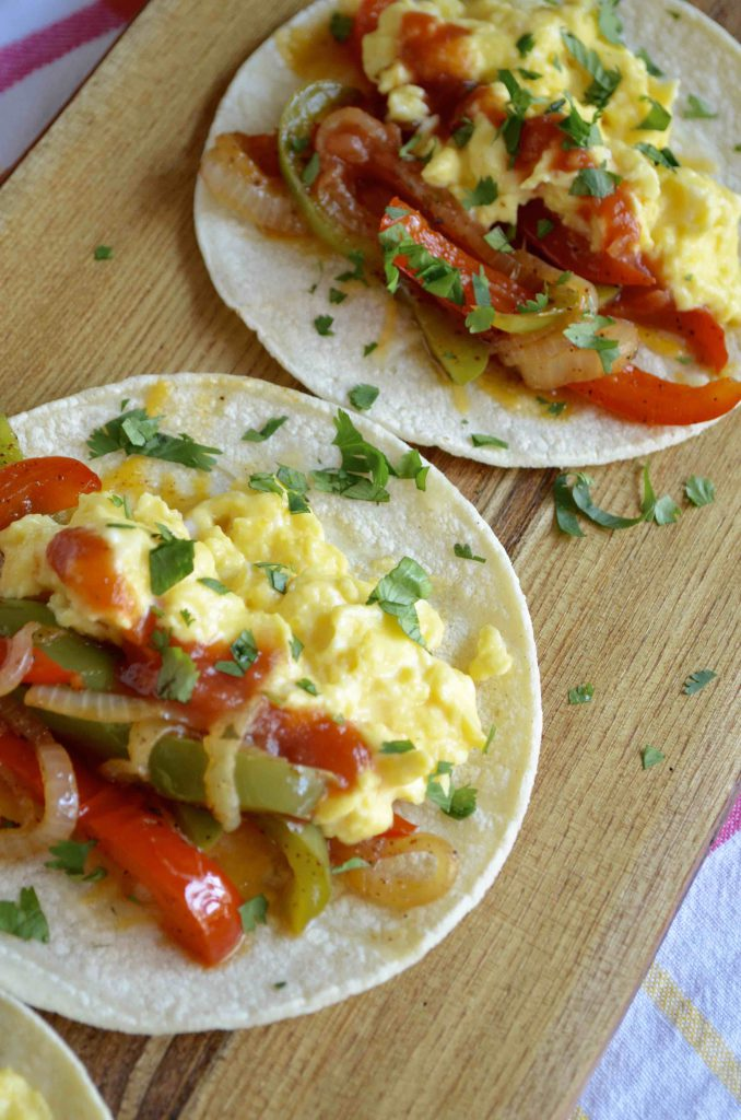 Breakfast Tacos with Sour Cream Scrambled Eggs