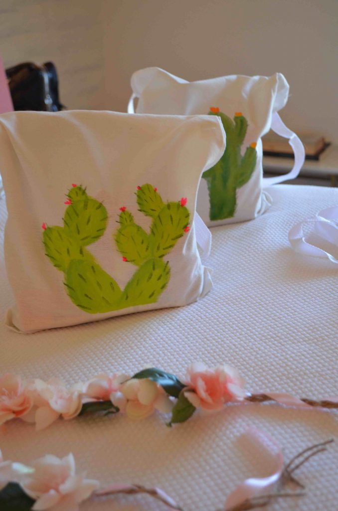 DIY Canvas Cactus Bags