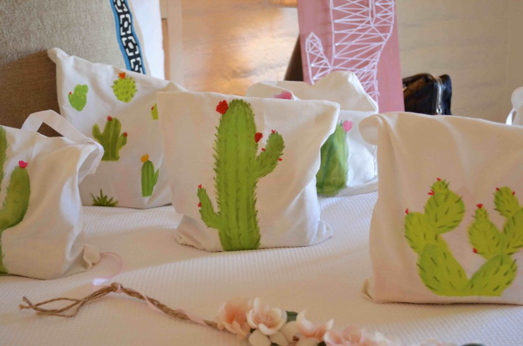 DIY Canvas Cactus Bags