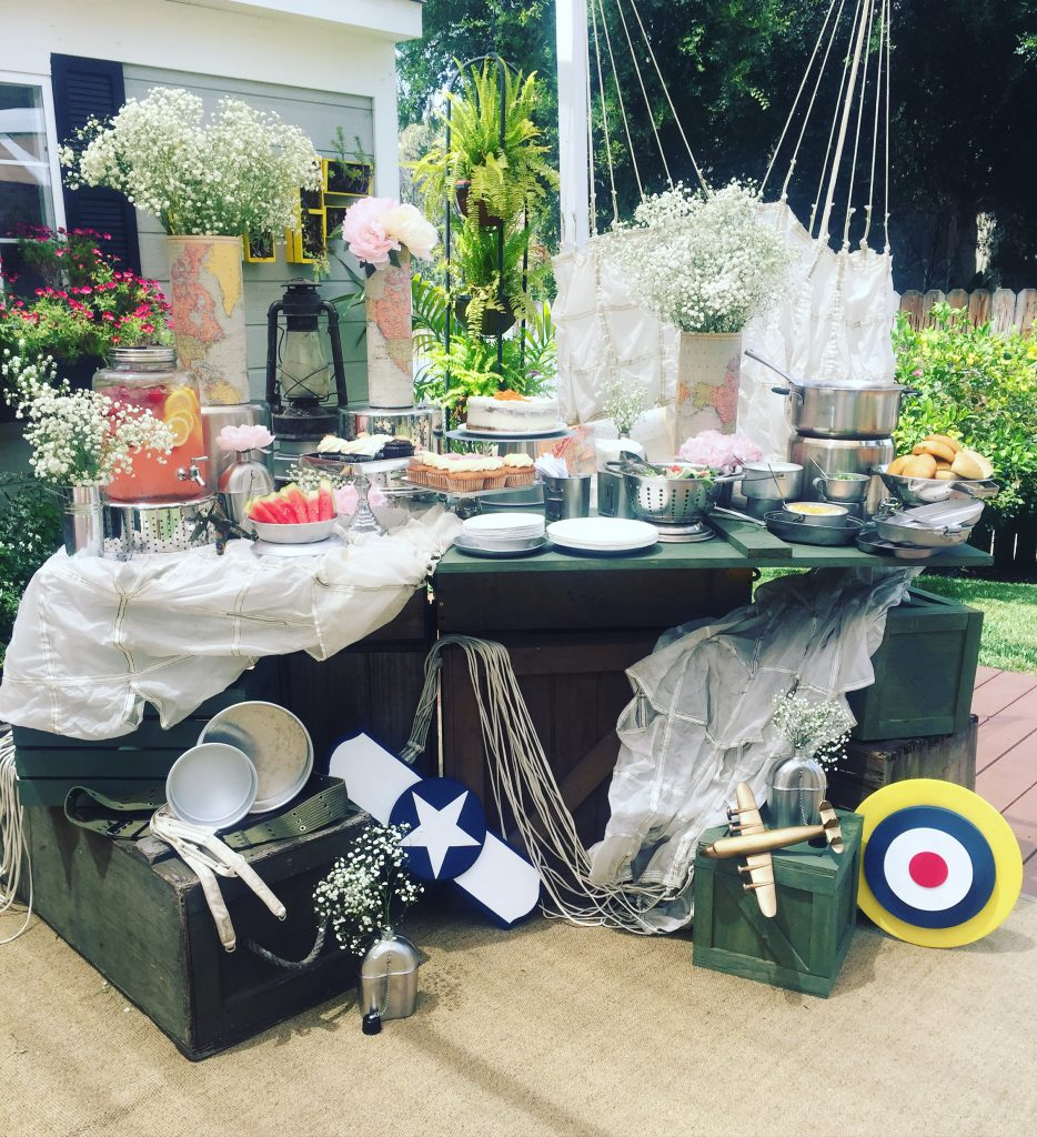 DIY Boho/Aviation Wedding Buffet Table Decor on Hallmark's Home and Family Show