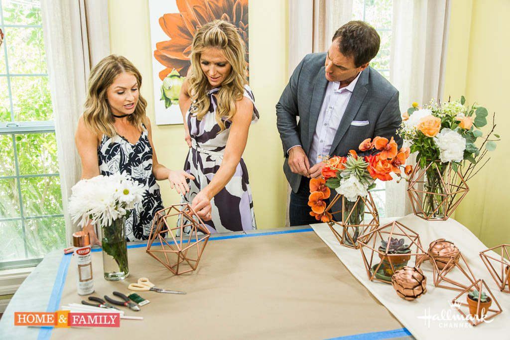 DIY Geometric Copper Decor on Hallmark's Home and Family Show