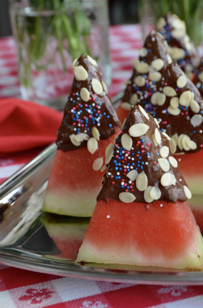 Chocolate Dipped Watermelon