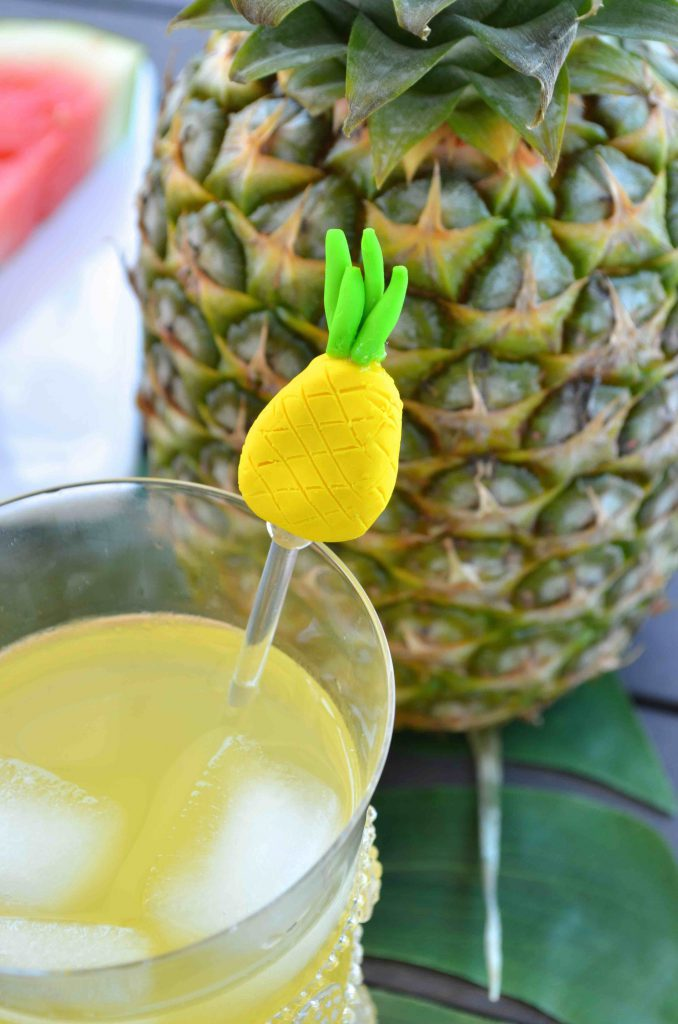 DIY Summer Pineapple, Cactus, and Watermelon Drink Stirrers