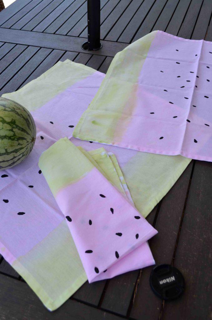 DIY Watercolor Watermelon Napkins