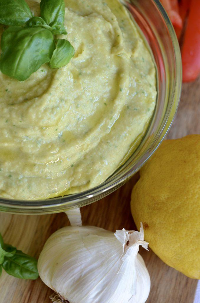 Lemon and Basil Hummus