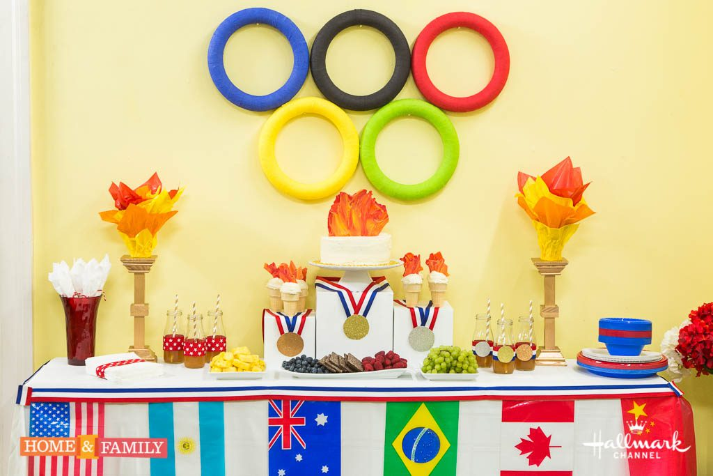 Olympic Tablescape DIY Decor