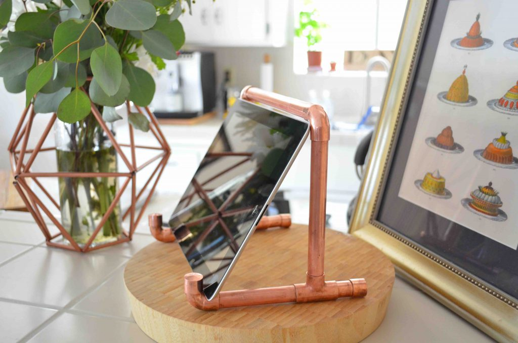 Copper Pipe iPad Holder