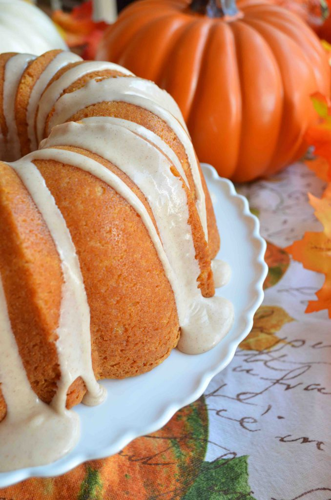 Pumpkin Poundcake With Spiced Maple Glaze