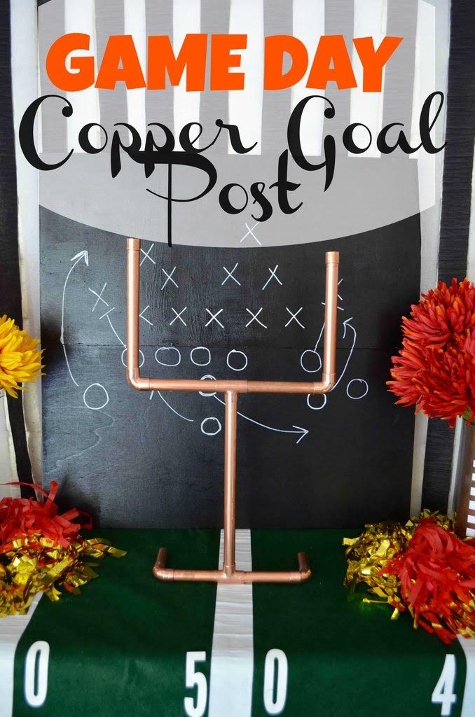 Game Day DIY Copper Goal Posts with Craft Box Girls